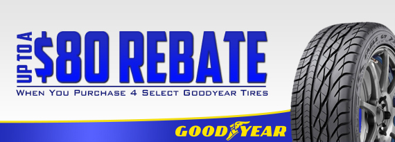 Goodyear Rebate - Up to $80